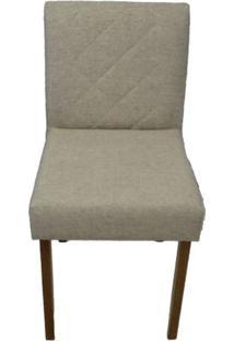 Cadeira Bruna Linho Bege Base Mel 46Cm - 58426 - Sun House