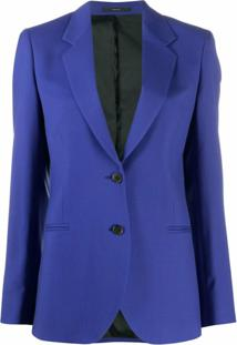 Paul Smith Blazer Slim Com Abotoamento - Azul