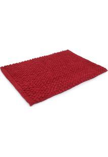 Tapete De Banheiro Camesa Micropop Vermelho Novo
