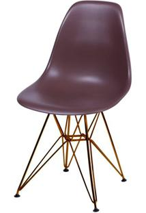 Cadeira Eames Polipropileno Cafe Base Cobre - 45982 - Sun House