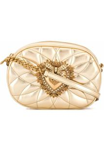 Dolce & Gabbana Bolsa Transversal Devotion - Dourado