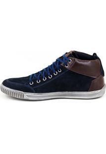 Sapatênis Casual Tchwm Shoes Cano Alto Azul