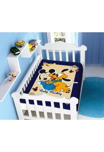 Cobertor Infantil Disney Mickey Divertido Azul Marinho Jolitex