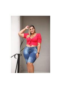 Bermuda Plus Size Alleppo Jeans Lina