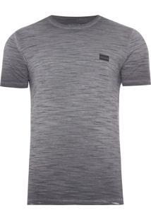 Camiseta Masculina Flamê Tinto Logo - Preto