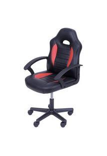 Cadeira Office Racer V11 Preto E Vermelho Com Base Nylon - 50036 Preto E Vermelho