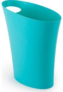 Lixeira Umbra Skinny Plastico Azul