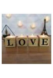 Cubo Decorativo Com Velas E Letras Em Acrílico Love Único