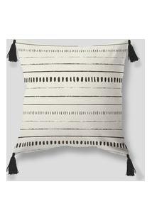 Amaro Feminino Design Up Living Capa De Almofada Preto E Branco 42X42, Preto E Branco