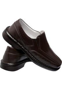 Sapato Conforto Asa Gofer - Masculino-Café