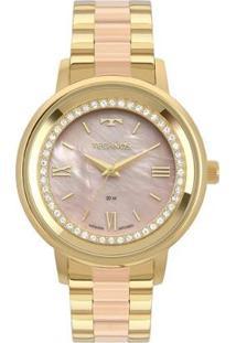 Relógio Technos Trend Bicolor 2036Mky/5J Feminino - Feminino-Dourado