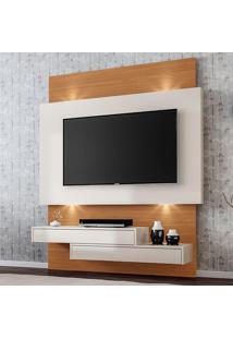Painel Para Tv Até 49 Polegadas Suspenso Tb120L Wj 100% Mdf Com Led Off White/Freijo - Dalla Costa