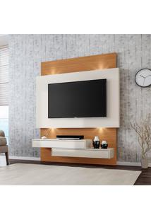 Painel Para Tv Suspenso Tb120L Com Led Off White/Freijo - Dalla Costa