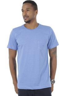 Camiseta Flamê Com Bolso Azul