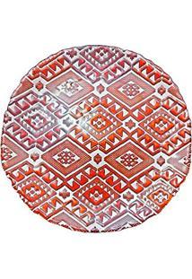 Centro De Mesa Vylux Dekor Milas Branco, Vermelho E Laranja 33 Cm
