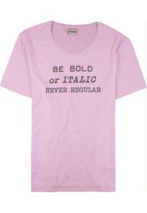 Blusa Rosa Be Bold Malha