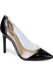 Sapato Scarpin Lara Vinil Preto