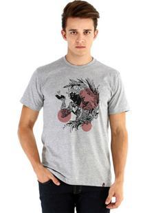 Camiseta Ouroboros Manga Curta Coringa De Copas - Masculino-Cinza