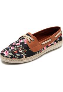 2205e0f70c ... Mocassim Dafiti Shoes Floral Preto