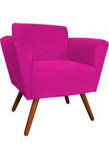Poltrona D'Rossi Decorativa Dora Suede Pink