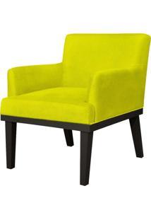 Poltrona Decorativa Para Sala De Estar E Recepção Beatriz Suede Amarelo - Lyam Decor