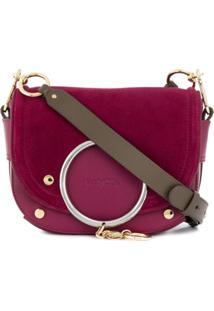 See By Chloé Mara Logo Charm Crossbody Bag - Rosa