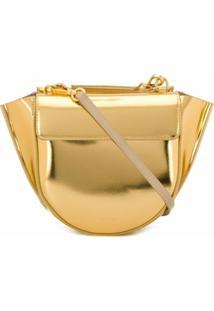 Wandler Bolsa Tote Hortensia - Dourado
