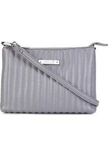Bolsa Santa Lolla Mini Bag Mestiço Matelassê Feminina - Feminino-Cinza