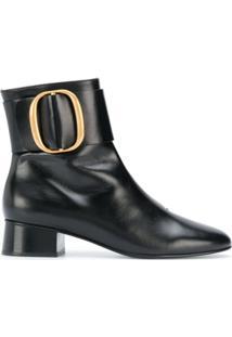 See By Chloé Ankle Boot De Couro Com Fivela - Preto