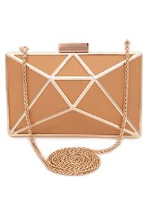 Clutch Cristal Leather - Bege