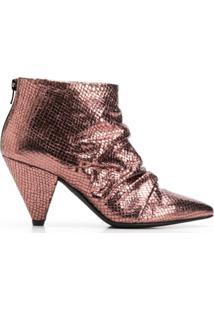 Marc Ellis Ankle Boot Com Efeito De Pele De Cobra - Metálico