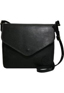 Bolsa Line Store Leather Margot Couro Preto. - Preto - Feminino - Dafiti