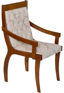 Cadeira Pérola Cetim Imbuia Natura E Floral Bege