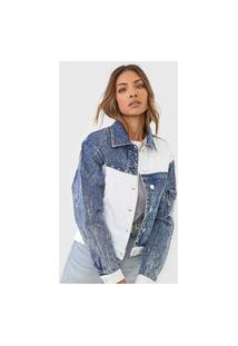 Jaqueta Jeans Desigual Lollypop Azul/Off-White