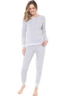 Pijama Malwee Liberta Onça Cinza