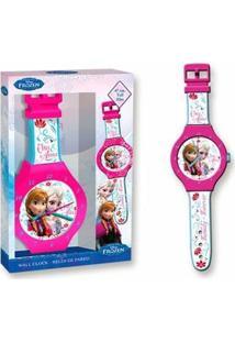 Relógio De Parede Frozen Dtc - Rosa