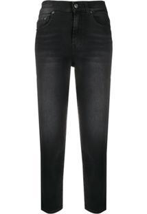 7 For All Mankind Calça Jeans Cropped Malia Soho - Preto