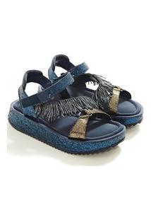 Sandalia Glitter Azul
