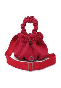 Bolsa Feminina Saco Pequena Bag Vermelha Sacola Bucket Lançamento Promoção