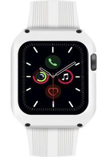 Pulseira Gorila Shield Dual Shock Para Apple Watch 44Mm Branco