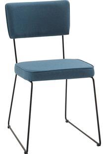 Cadeira Roma T1075-Daf Mobiliário - Azul Jeans