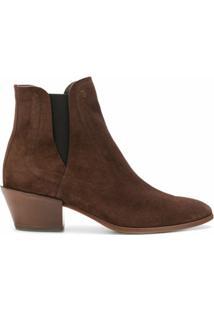 Tod'S Ankle Boot De Camurça - Marrom