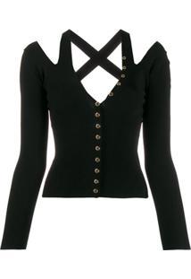Versace Jeans Couture Blusa De Tricô - Preto