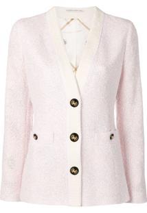 Alessandra Rich Tweed Blazer - Rosa