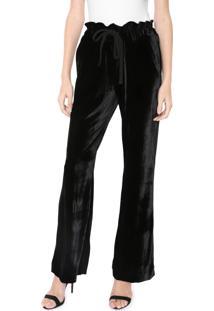 Calça Calvin Klein Pantalona Veludo Preta