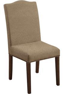 Cadeira De Jantar Silvia Suede Dourado