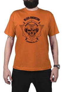 Camiseta Manga Curta Bleed American Experimental Laranja