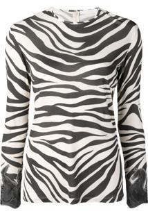 Chloé Blusa Com Estampa Zebra - Neutro