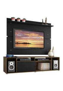 Rack Madesa Cancun E Painel Para Tv Até 65 Polegadas Rustic/Preto/Preto