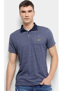 Camisa Polo Fatal Bordado Masculina - Masculino-Marinho